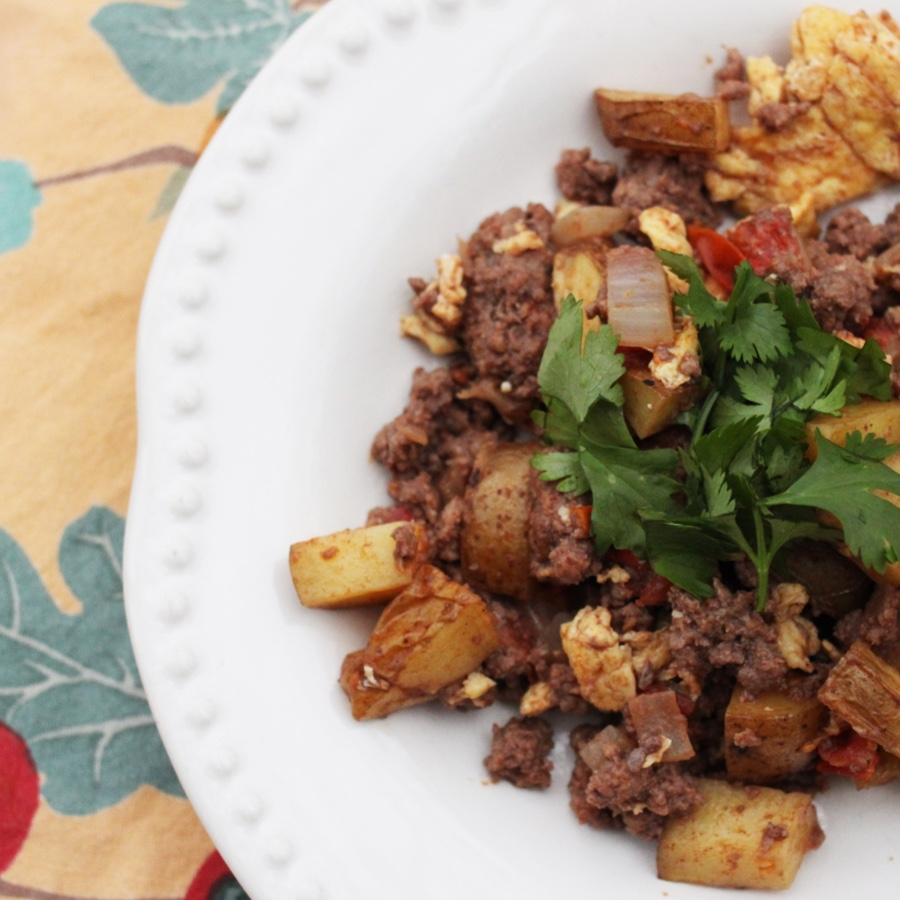 Rustic Breakfast Hash with Bison