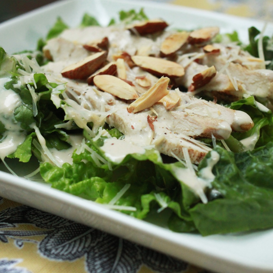 Chicken Caesar Salad with Greek Yogurt Dressing