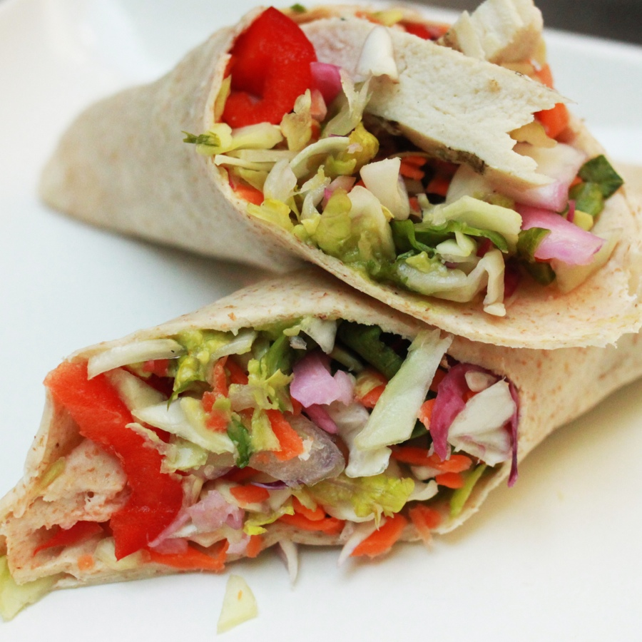 Light Chicken Veggie Wraps