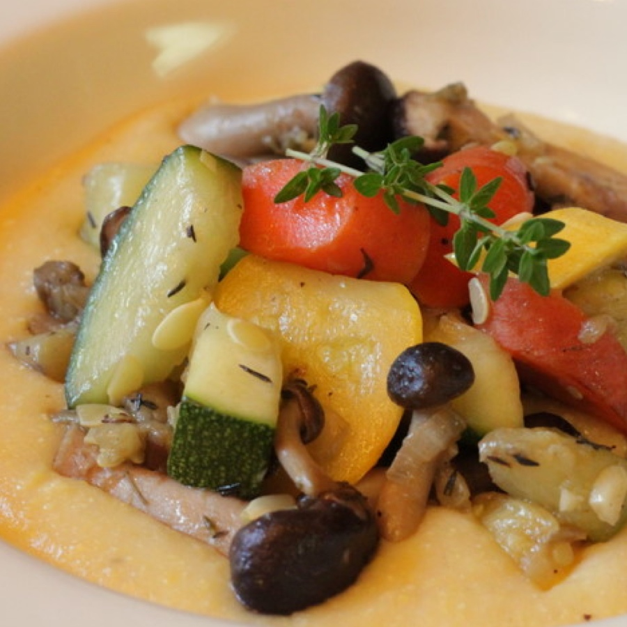Summer Vegetables with Polenta