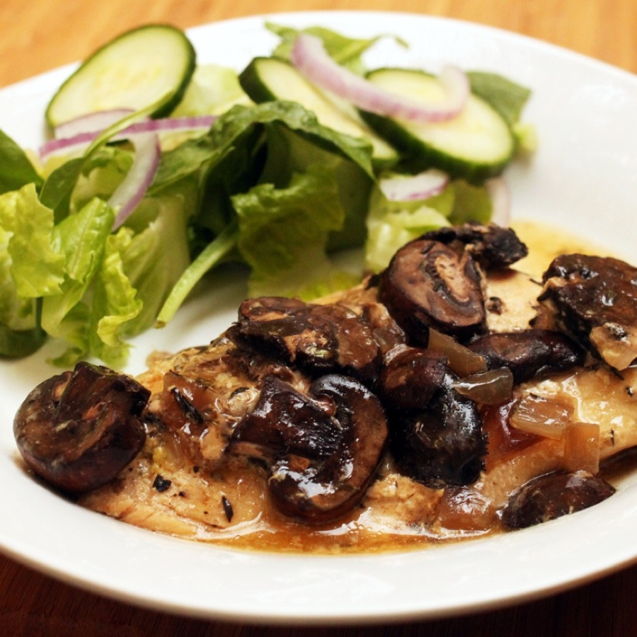 Mushroom Honey-Mustard Chicken