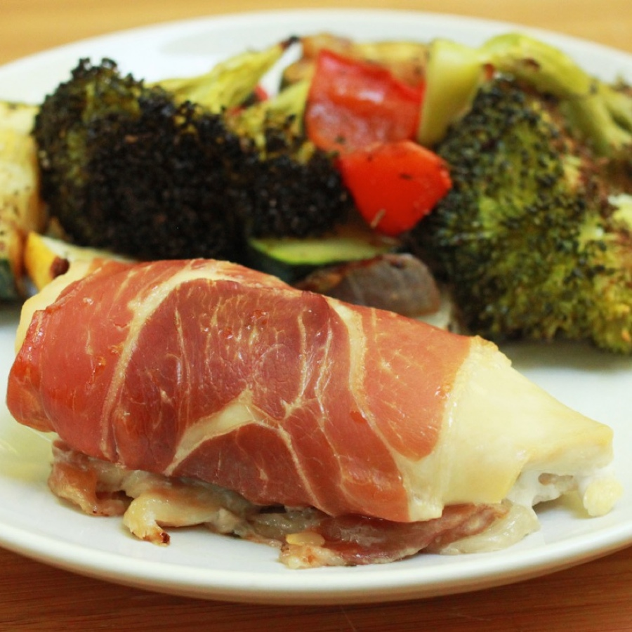Chicken Saltimbocca with Oven Roasted Vegetables