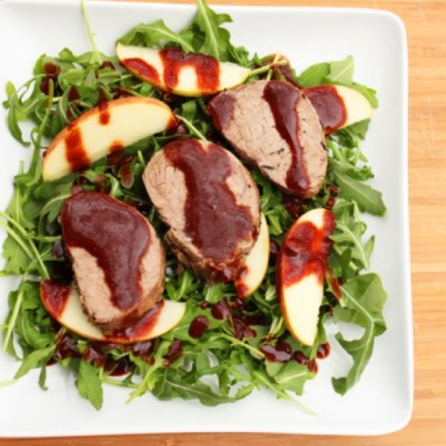 Grilled Pork Tenderloin Salad with Strawberry Balsamic Dressing