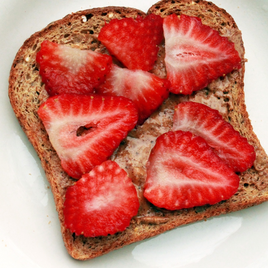 Fresh Strawberry Almond Butter Toast