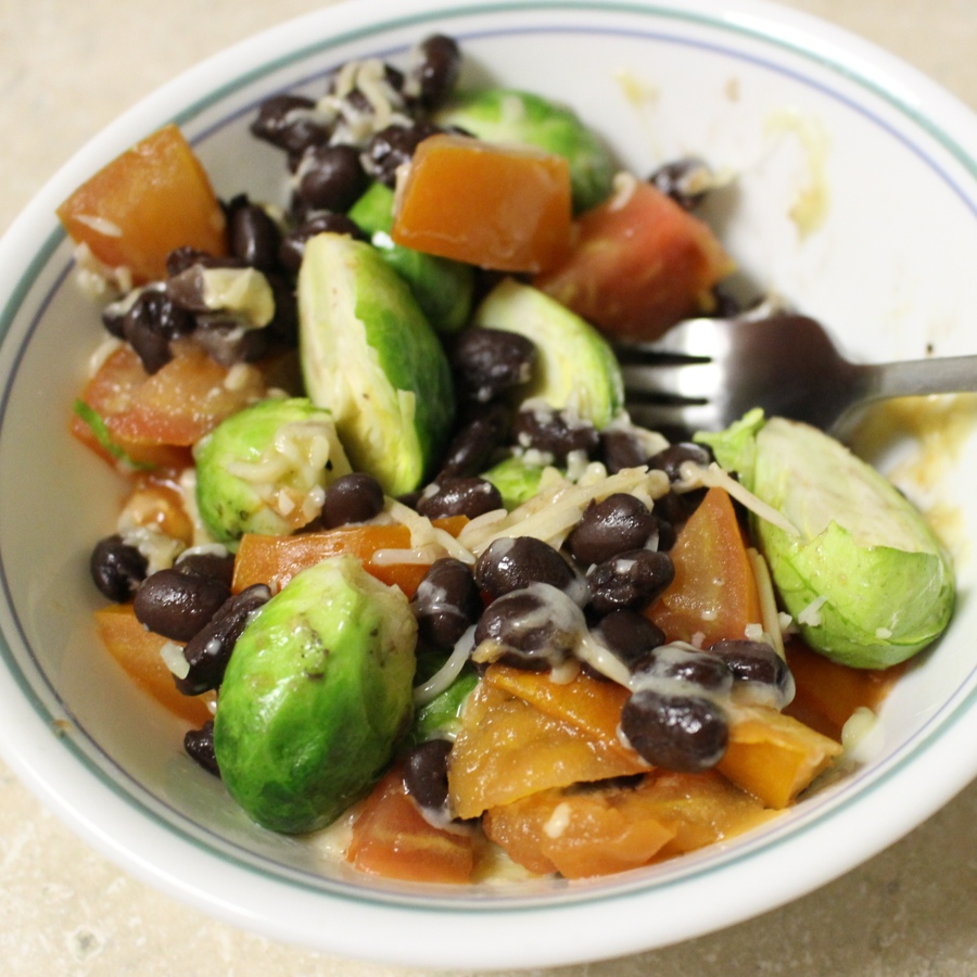 Brussels Sprouts Burrito Bowl