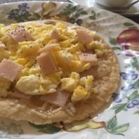 Open Faced Breakfast Burrito image
