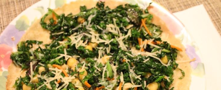 Open Faced Kale Tortilla
