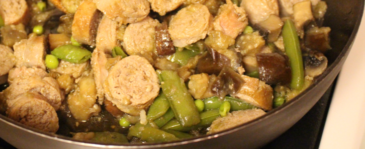 Turkey Eggplant Stir-Fry