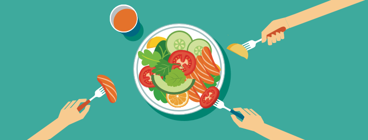 Dine & DASH Adjustable Calorie Meal Plan.