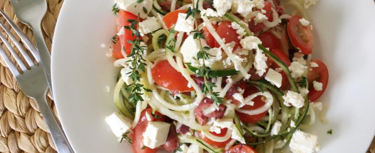 Zucchini Greek Salad