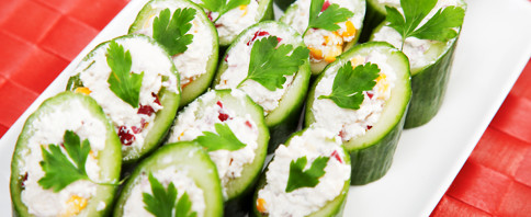 Mini Cucumber Cream Cheese Bites image