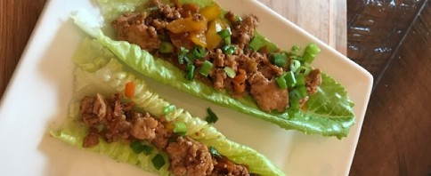 Asian Chicken Lettuce Wraps image