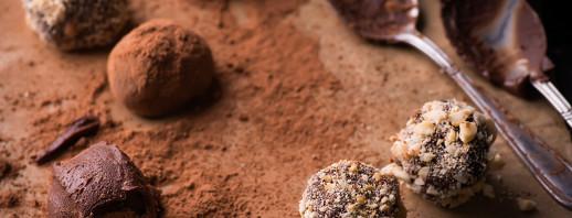 Cocoa Walnut Peanut Butter Balls image