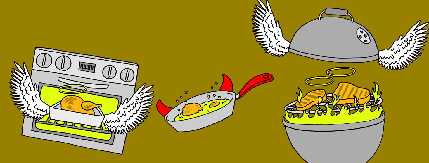Ways to cook chicken fly overhead, with some ways being healthier than others.