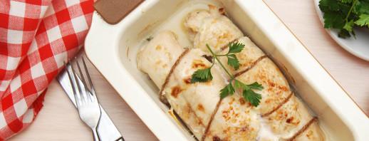 Homemade Chicken Cordon Bleu With Rice image