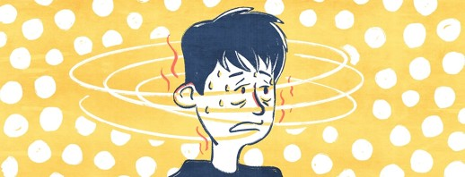 A person exhibiting the outward symptoms of hypoglycemia, dizzy, cold sweats, shakiness.