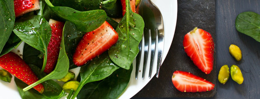 Pistachio and Strawberry Spinach Salad image