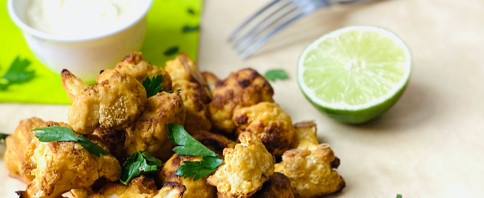 Crispy Chickpea Cauliflower Bites image