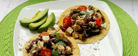 Loaded Veggie Plant-Protein Tacos image