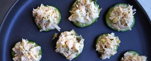 Tuna Cucumber Bites image