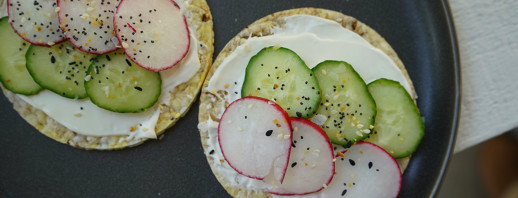 Cucumber Radish Sandwich Thins image