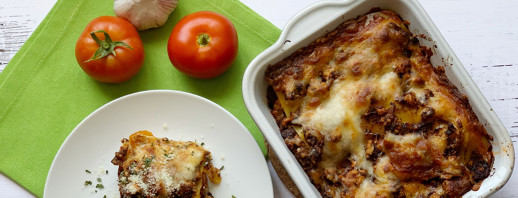 Turkey Mushroom Lasagna with Roasted Peppers image