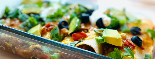 Turkey Lentil Enchiladas image