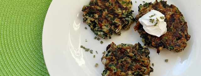 Spinach Onion Rice Cakes image