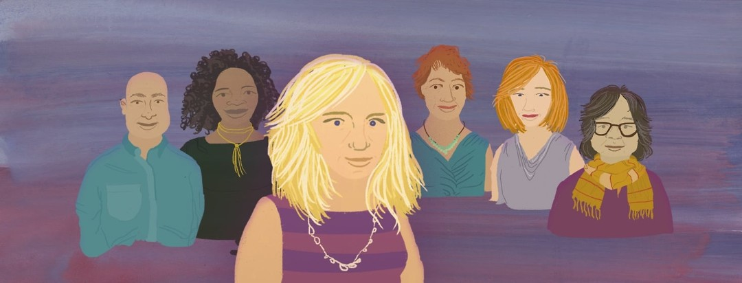 5 advocates standing behind Meryl.