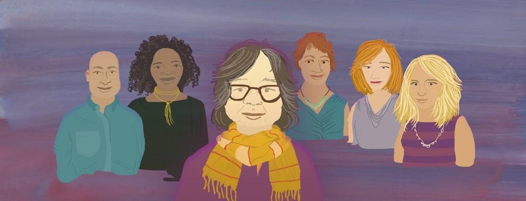 five t2d advocates standing behind Corinna