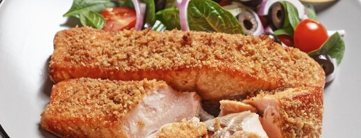Dijon Panko Crusted Salmon image