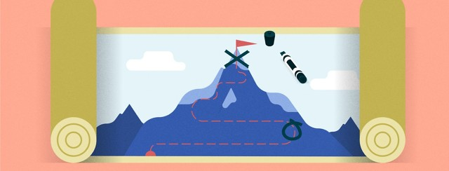 a map with a mountain on it and the peak is crossed out with a lower point circled
