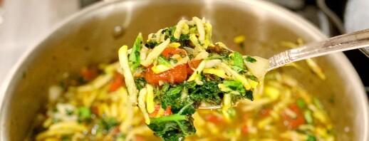 Zucchini Fire Roasted Tomato Soup image