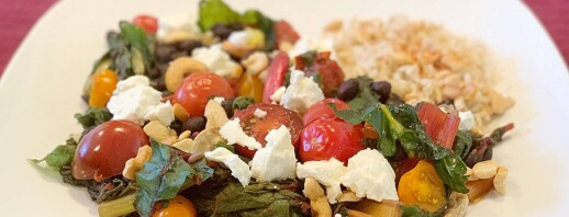 Sweet and Savory Swiss Chard and Black Beans image