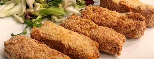 Oven-Baked Tempeh Tenders With Tzatziki Style Dipping Sauce image
