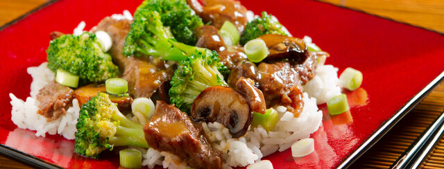 Beef and Broccoli With Mushrooms image