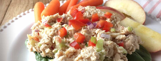 Open-Faced Salmon Salad Sandwich image