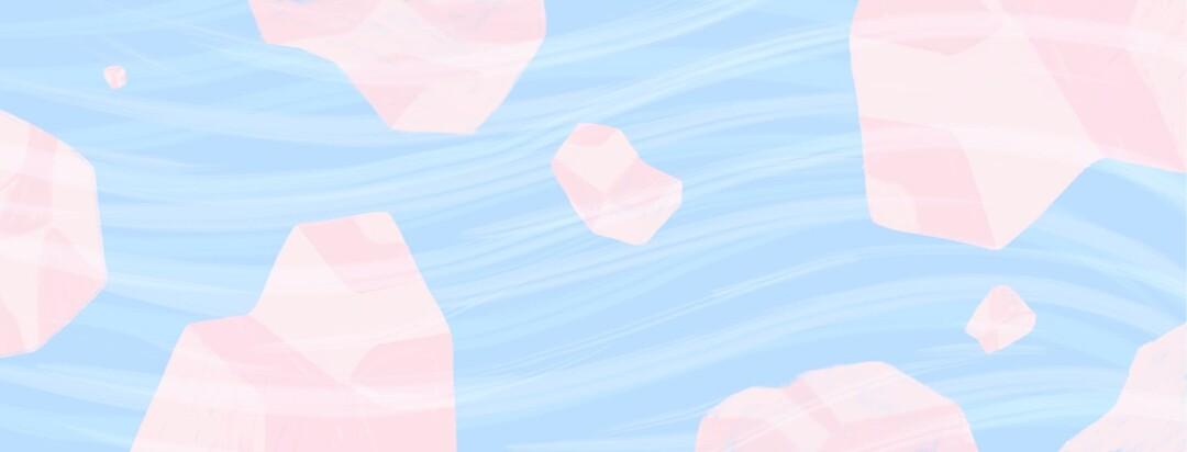 salt rocks in water