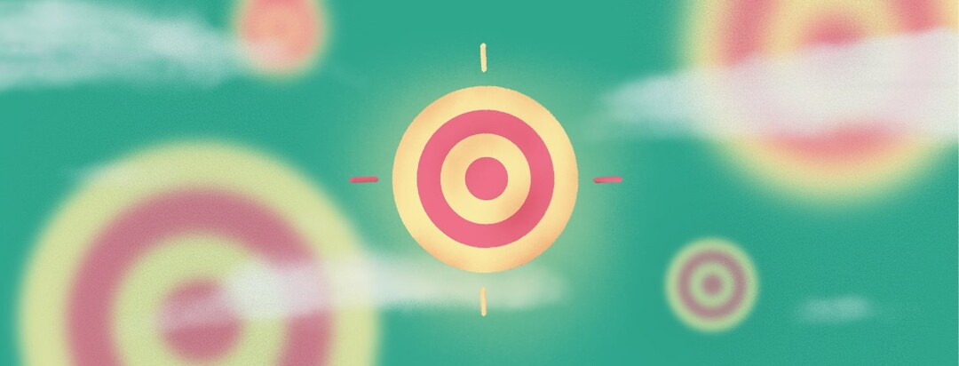 a target surrounded by blurry targets